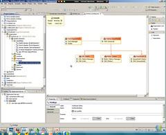Busines Studio organization model privileges assigned to position