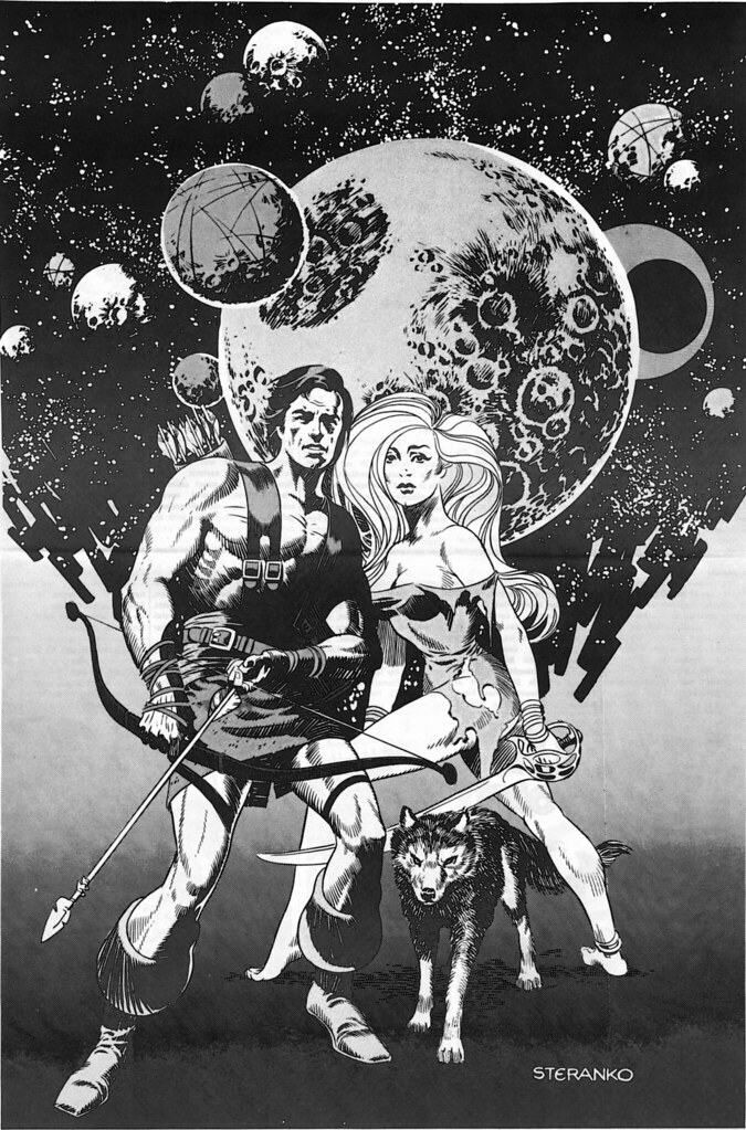 Steranko Interplanetary warriors MediaScene 10 1974