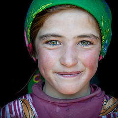 Central Asia portrait | Hijab lady | Beautifull girl photo by galibert olivier