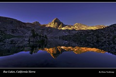 Painted Lady, Rae Lakes Sunrise, Kings Canyon National Park, High California Sierra photo by Elena Omelchenko