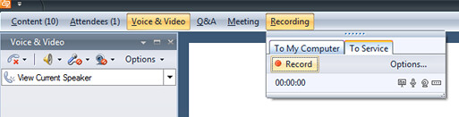 Live Meeting - Recording Options