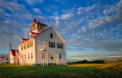 Sunset on the old Coast Guard Station, Eastham, MA photo by Jaime Martorano