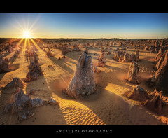 The Pinnacles, Cervantes, Nambung National Park, Western Australia :: HDR photo by :: Artie | Photography :: Cya in Sept!
