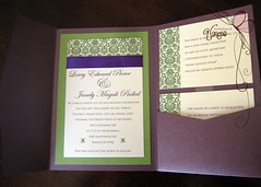 Purple and Green Wedding Invitation photo by Invitaciones Di Vanessa