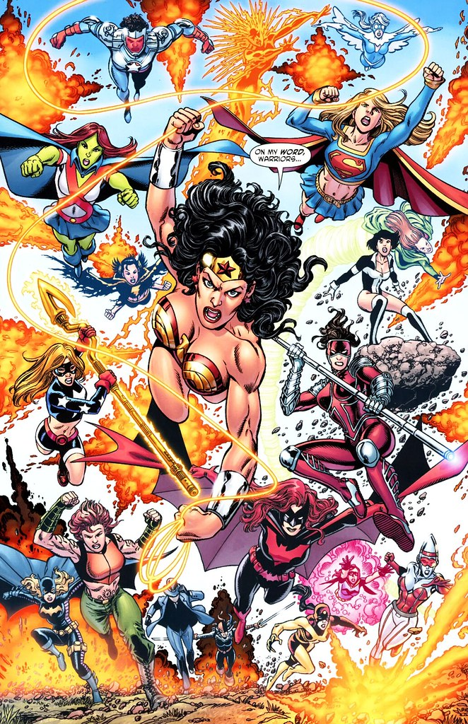 Wonder Woman 600 splash page by George Perez full color