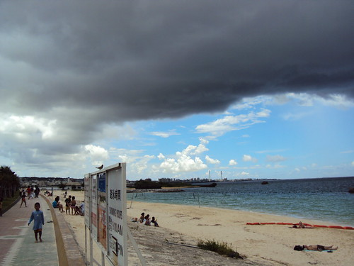 Storm clouds rolling in at Araha beach