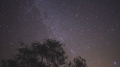Time lapse of the Milky Way and Andromeda Galaxy photo by Harles99