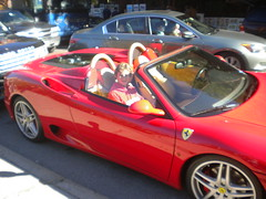Me inside a Ferrari 360 Spider! photo by lambokid555