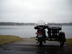 Ural at Lake Josephine, Roseville, MN in November