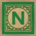Block Letter N
