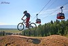 Kids Ranch campers take some morning laps on Teewinot bike park.