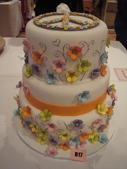 Flower power cake for Scandinavian Cake Show photo by Himmelske-kager