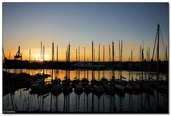 Catania - Sunset over the NIC yacht club photo by ciccioetneo