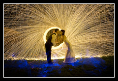 "Oct 9th--282/365----Wedding Night "" when they kissed you could see the sparks fly"" photo by Catch-light"