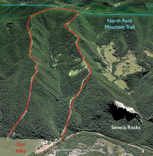 Backpacking West Virginia: Video Of Proposed Seneca Rocks Hike On Firebreak Trails