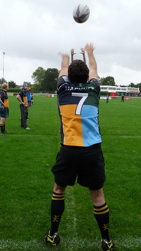 Paddy Walsh Practices His Lineout Throwing