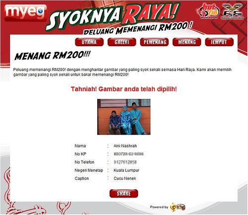 MyEG Syoknya Raya Contest