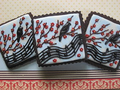 Songbird Cookies w/Floral Background photo by drakegore