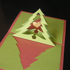Christmas Tree Heart pop up photo by intertwingle
