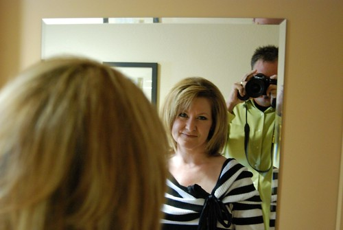 Sarah in mirror