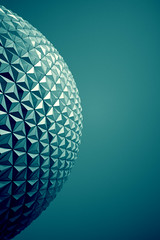 Geometric musings in an abstract and magical world (Spaceship Earth) photo by ohhector
