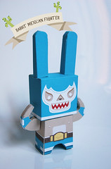 Rabbit fighter paper toy photo by Ana Rois Ortiz
