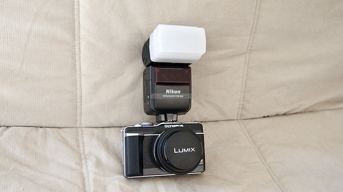 E-PL1 with Nikon SB-600 Flash