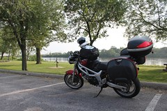 SV650 and Mississippi River in Elk River, MN