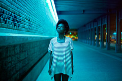 blue light-strangers photo by W.s+