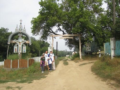 Călătoria familiei Filat prin Codrii Moldovei la ieşirea spre satul Horodca