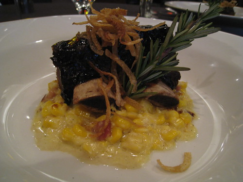 Espresso Bison Shortrib with Truffled Bacon Corn