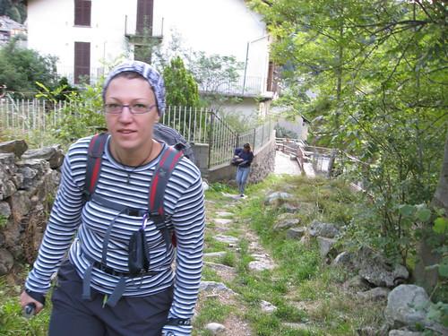 Silvia alla partenza