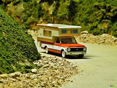 Greenlight Diecast C-10 with Camper photo by Phil's 1stPix