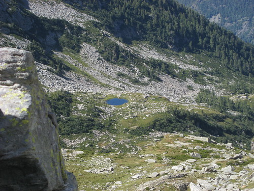 Lago Chiaro visto dal Colle