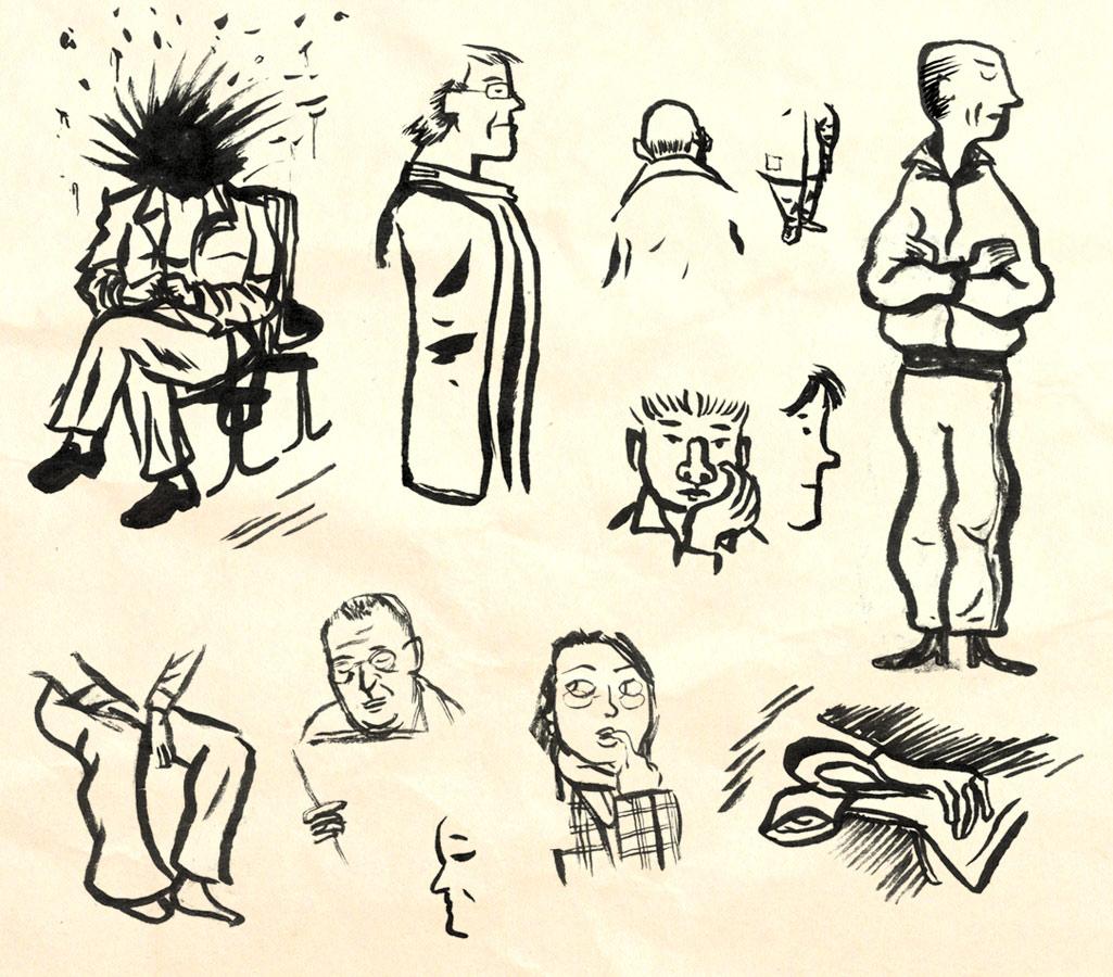 Madrid sketching