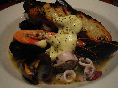 Seafood stew with aioli