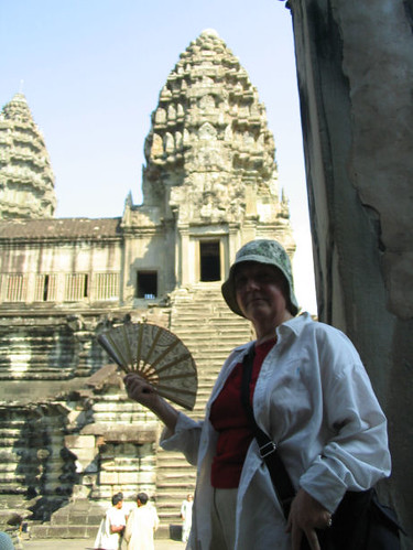 Mom at Angkor