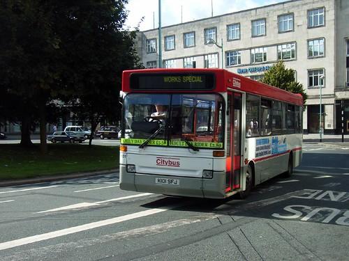 101 K101SFJ Plymouth Citybus.