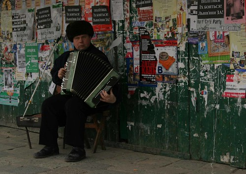 accordian guy, lviv