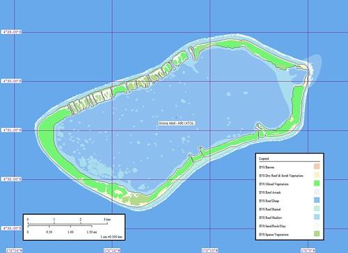 Orona Atoll - Map