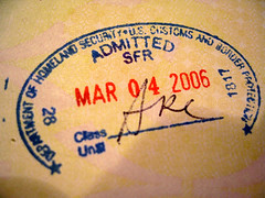 US Immigration Stamp - changed again