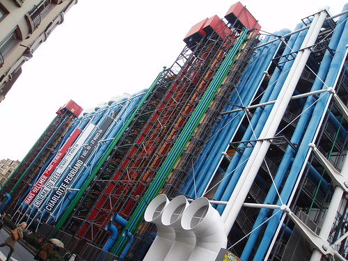Centre Pompidou, the back facade