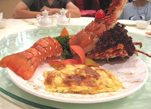 Cheese baked lobster