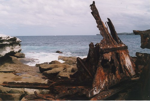 Wreck of the SS Minmi, Cape Banks, (entrance to Botany Bay), Sydney