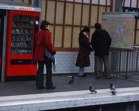 Parisian Pigeons sur Le Metro
