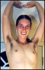 smile hairy pits