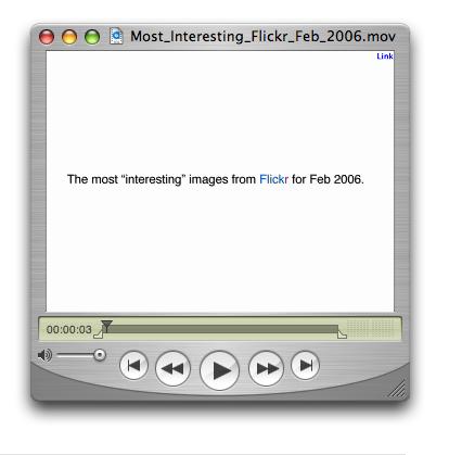 Most Interesting Flickr Photos Feb 2006 Video