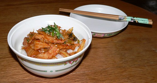 Pork-Kimchi rice bowl / 豚キムチ丼