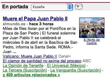 Google mata a Juan Pablo II