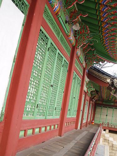A veranda of Daejojeon, Changdeokgung Palace